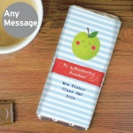Personalised Milk Chocolate Bar - Happy Apple