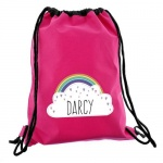 Personalised Pink Swim/Kit Bag - Rainbow