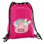 Personalised Pink Kit Bag - Bunny