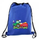 Personalised Blue Swim/Kit Bag - Tractor