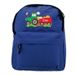 Personalised Blue Backpack - Tractor