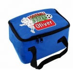 Personalised Blue Lunch Bag - Football Crazy