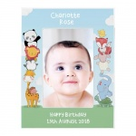 Personalised 6x4 Portrait Wooden Photo Frame - Baby Animals