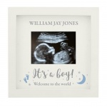 Personalised 4 x 3 Baby Scan Frame - Boy/Girl