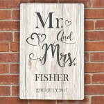 Personalised Metal Sign - Mr & Mrs