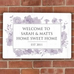 Personalised Metal Sign - Soft Watercolour