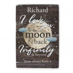 Personalised Metal Sign - To the Moon & Infinity
