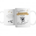 Personalised Mug - Gold Star Graduation