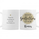 Personalised Ceramic Mug - Best Godmother/Godfather Ever