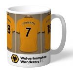 Personalised Ceramic Mug - Wolves Dressing Room