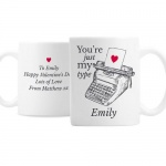 Personalised Ceramic Valentines Mug - Just My Type