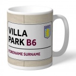 Personalised Football Club Street Sign Mug