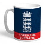 Personalised England Cricket Bold Crest Mug