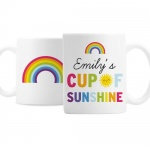 Personalised Ceramic Mug - Rainbow Cup of Sunshine