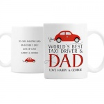 Personalised Ceramic Mug - Worlds Best Taxi Driver Dad