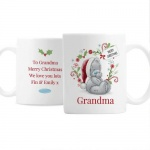 Personalised Ceramic Christmas Mug - Tatty Teddy with Santa Hat