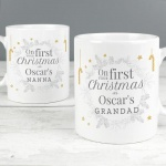 Personalised Ceramic Mug Set - Your First Christmas As