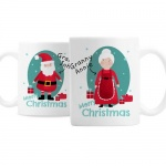 Personalised Ceramic Mug Set - Mr & Mrs Claus