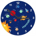 Personalised Glass Clock - Solar Sytem