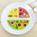 Personalised Plastic Plate - Healthy Eating Portions
