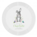Personalised Plastic Plate - Easter Bunny
