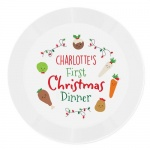 Personalised Plastic Plate - First Christmas Dinner