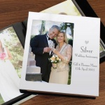 Personalised Decorative Photo Album 6x4-Silver Anniversary