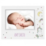 Personalised 7x5 Box Photo Frame - Baby Unicorn