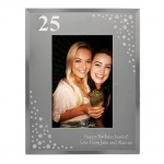 Personalised 6x4 Diamante Glass Photo Frame - Big Age