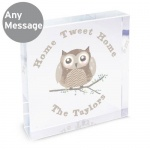 Personalised Crystal Token - Woodland Owl