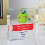 Personalised Crystal Token - Happy Apple