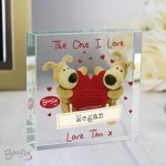 Personalised Crystal Token - Boofle Shared Heart