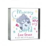 Personalised Crystal Token - Me To You, You Are My World