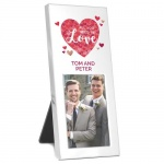 Personalised 2x3 Photo Frame -  All You Need is Love Confetti Hearts