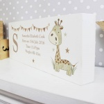 Personalisation Mantel Block - Hessian Giraffe