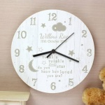 Personalised Shabby Chic Wooden Clock - Twinkle Twinkle