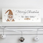 Personalised Wooden Block Decoration - Scandinavian Christmas Gnome