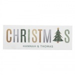 Personalised Christmas Wooden Block Decoration