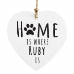 Personalised Pet Wooden Heart Decoration - Home is Where