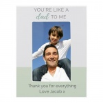 Personalised 6x4 Wooden Photo Frame - You're Like a Dad to Me