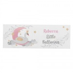 Personalised Wooden Block Sign - Swan Lake