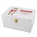 Personalised 1st Christmas White Wooden Keepsake Box - Mouse