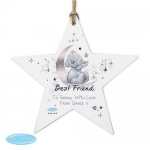 Personalised Wooden Star Decoration - Me To You Moon & Stars
