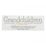 Personalised Mantel Block - Grandchildren