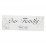 Personalised Mantel Block - Branches