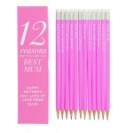 Personalised Box and 12 Pink HB Pencils - 12 Reasons
