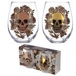 Fun Skulls & RoseGlass Tumbler Set of 2