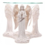 White Praying Angel Oil Burner