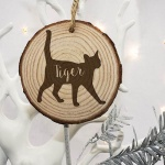 Personalised Christmas Tree Decoration - Cat Silhouette