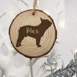 Personalised Christmas Tree Decoration - Dog Silhouette